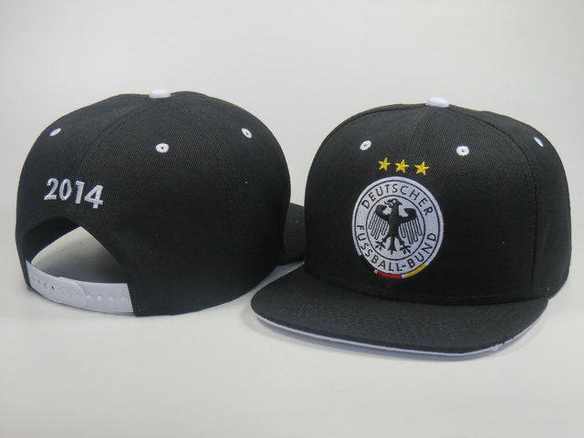 Germany 2014 World Cup Black Snapback Hat LS 0617