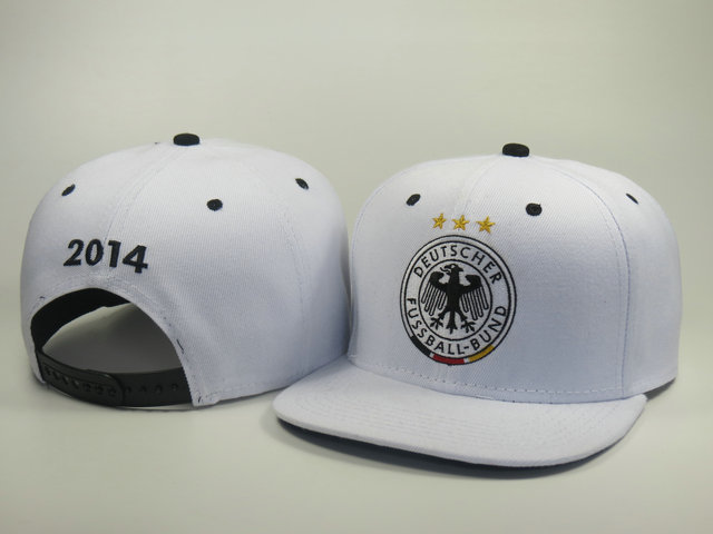 Germany 2014 World Cup White Snapback Hat LS 0617