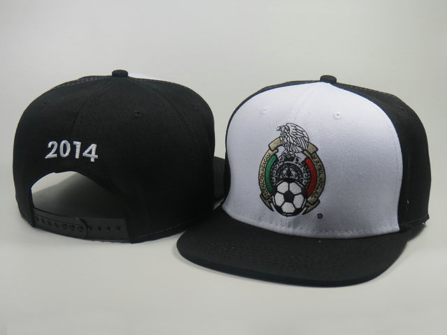 Mexico 2014 World Cup Black Snapback Hat LS 0617