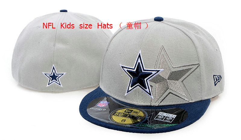 Kids Dallas Cowboys Grey Fitted Hat 60D 0721