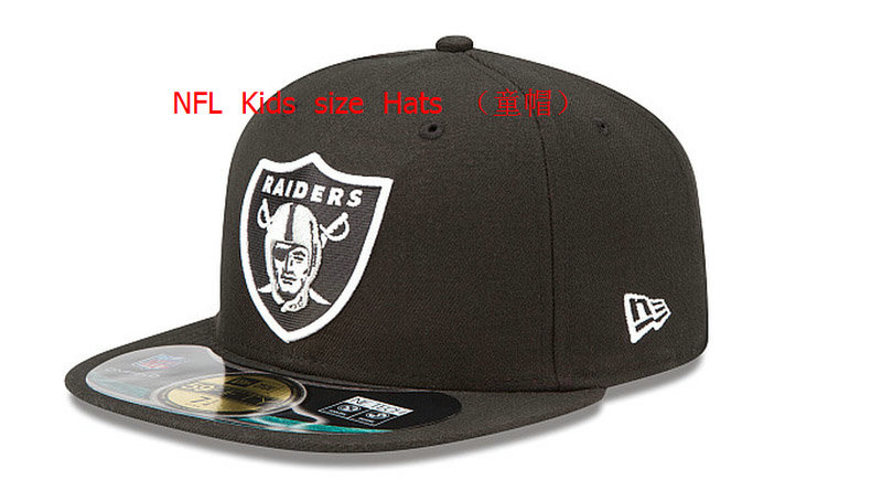 Kids Oakland Raiders Black Fitted Hat 60D 0721