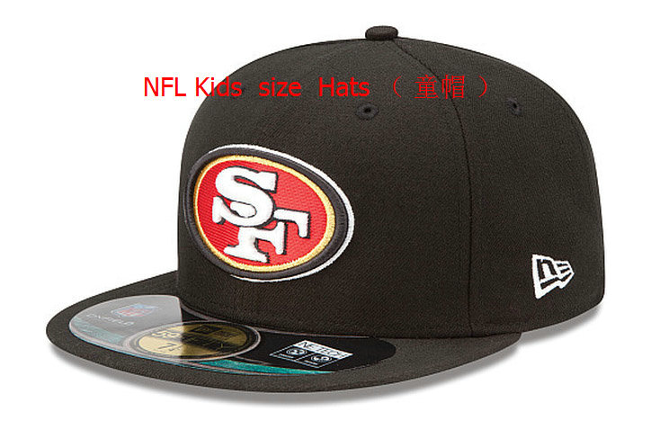 Kids San Francisco 49ers Black Fitted Hat 60D 0721