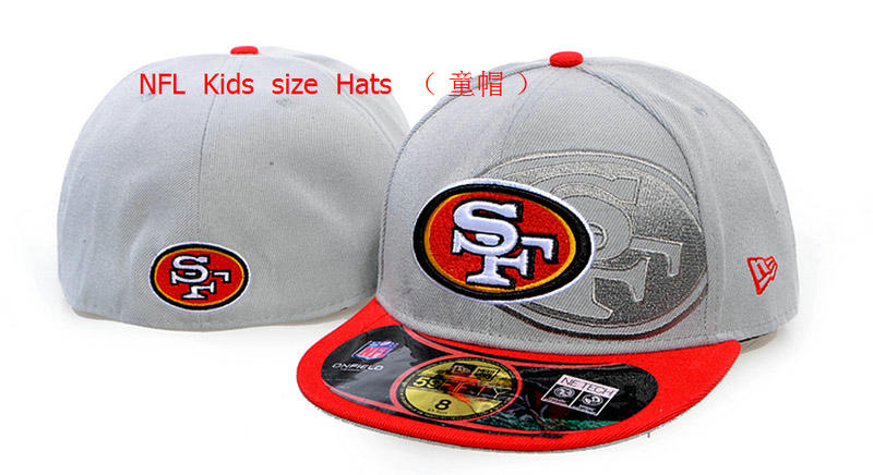 Kids San Francisco 49ers Grey Fitted Hat 60D 0721