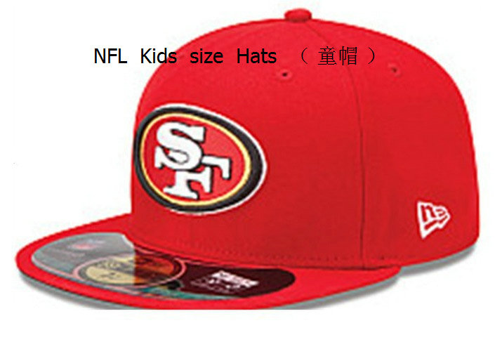 Kids San Francisco 49ers Red Fitted Hat 60D 0721